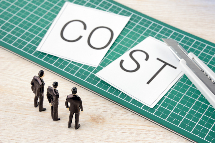 Business team thinking about cost cutting