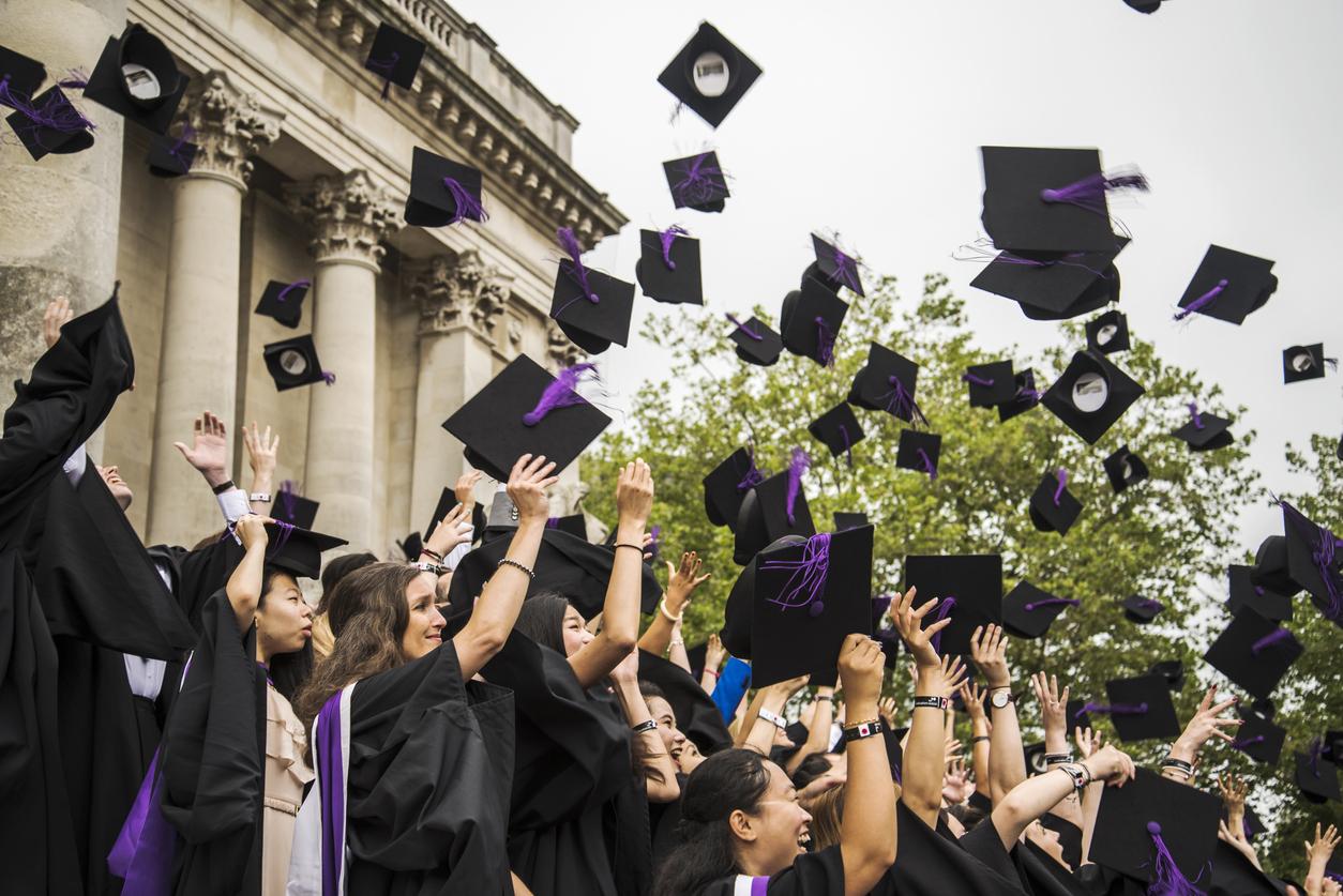 Portsmouth, United Kingdom - July 20, 2015: graduation ceremony at Portsmouth University