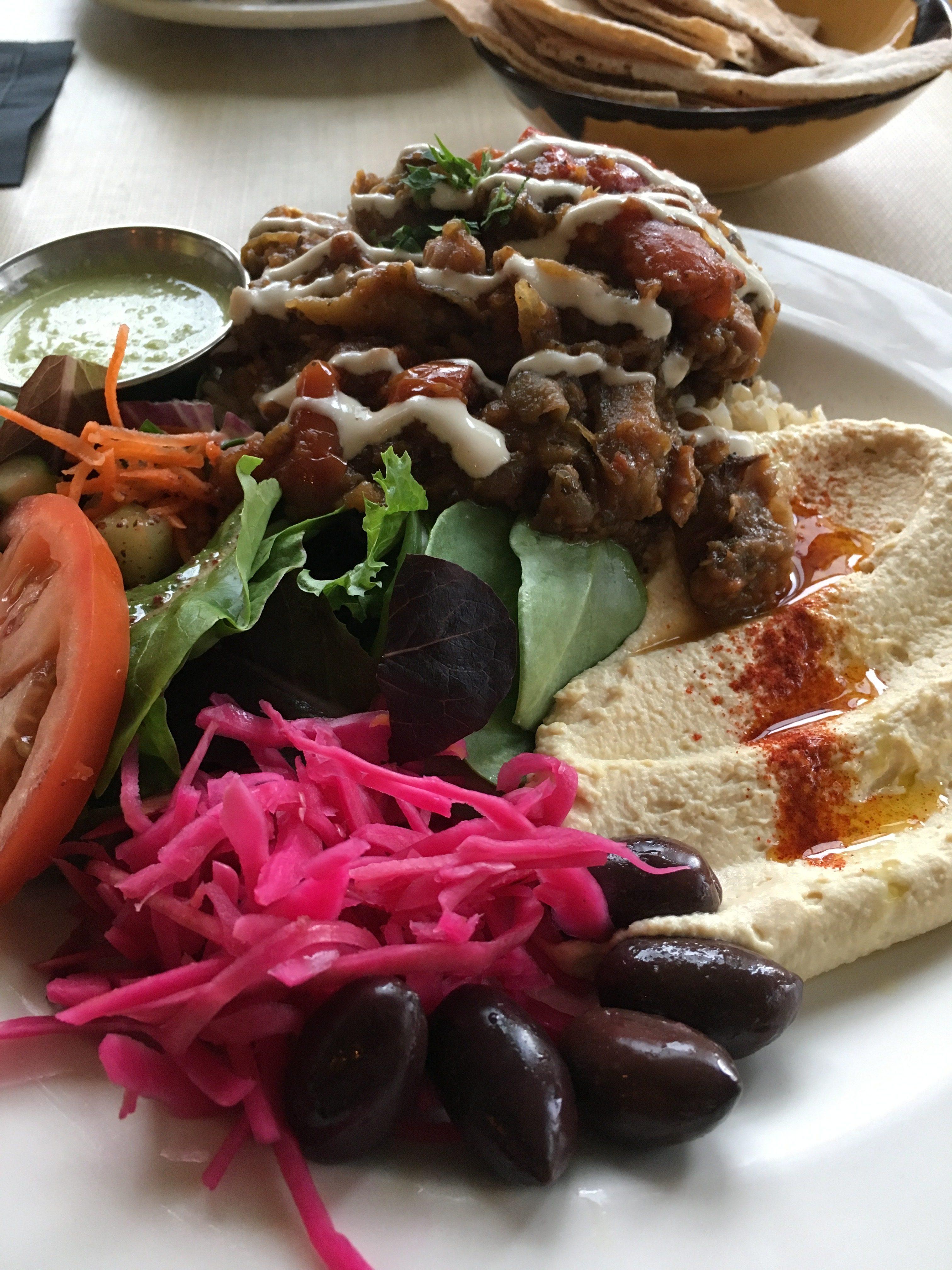 レストラン「Nuba」で提供されるヴィーガン料理